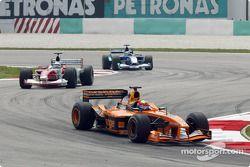 Enrique Bernoldi, Allan McNish et Felipe Massa