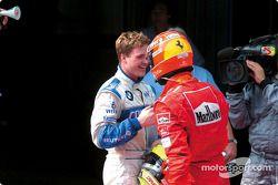 Ralf Schumacher félicité par son frère Michael