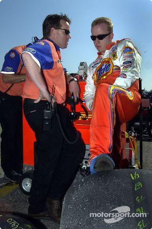 Ricky Craven y el jefe de equipo, Mike Beam