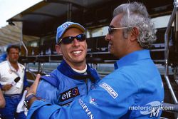 Jenson Button and Flavio Briatore