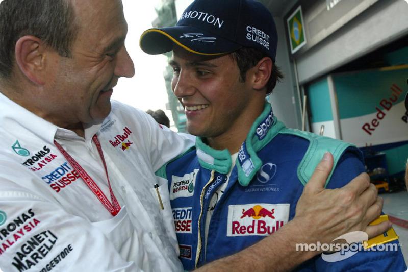 Massa conquistou seu primeiro ponto na F1 logo em sua segunda corrida no mundial, na Malásia em 2002. Um sexto posto.