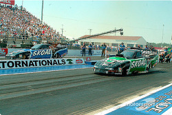 The two Skoal cars go heads up for the first time ever