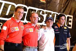Conferencia de prensa Bridgestone: Luciano Burti, Rubens Barrichello, Felipe Massa y Enrique Bernold