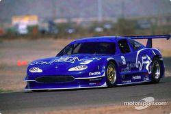 The new style 2002 Johnson Controls Jaguar XKR driven by Paul Gentilozzi