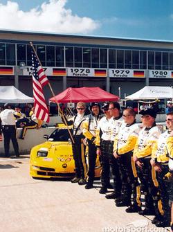Le Team Corvette sur la grile