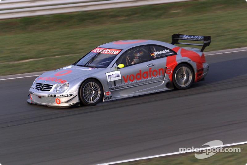 Bernd Schneider driving the Mercedes-Benz CLK-DTM 2002, entered by the Vodafone AMG-Mercedes team