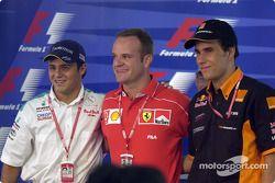 Conferencia de prensa del jueves: Felipe Massa, Rubens Barrichello y Enrique Bernoldi