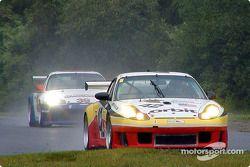 A pair of Porsche GT3 R