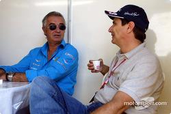 Flavio Briatore y Nelson Piquet