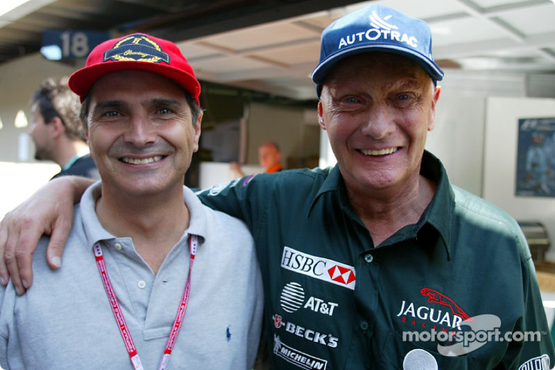 Old teammates: Nelson Piquet and Niki Lauda