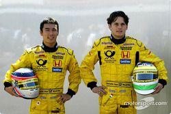 Takuma Sato and Giancarlo Fisichella