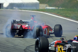 Michael Schumacher girando