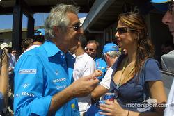 Flavio Briatore y la presentadora de la televisión brasileña Luciana Gemenez