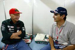 Niki Lauda et Nelson Piquet
