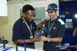 El Gran Pelé con Antonio Pizzonia
