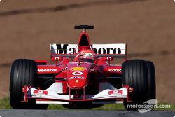 Michael Schumacher im Warm-Up
