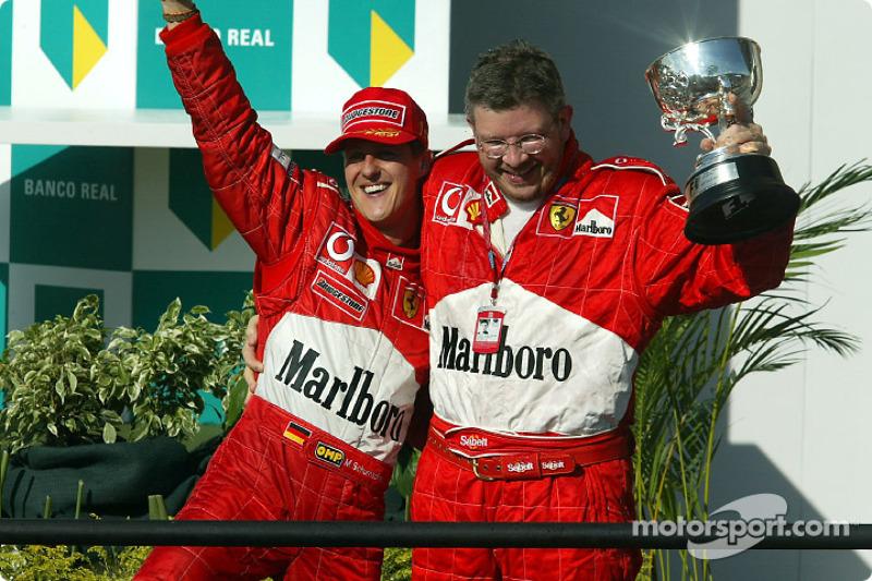 Sua experiência como chefe de equipe de Schumacher em seu período mais vitorioso, de 2000 a 2004, com cinco títulos consecutivos de pilotos e construtores.