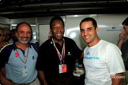 El Gran Pelé y Juan Pablo Montoya