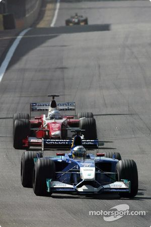 Nick Heidfeld and Mika Salo
