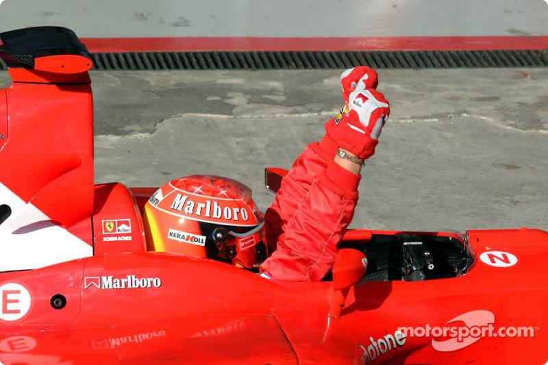 2002. Інтерлагос. Переможець: Міхаель Шумахер, Ferrari F2002