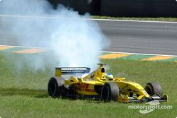 Giancarlo Fisichella out of the race