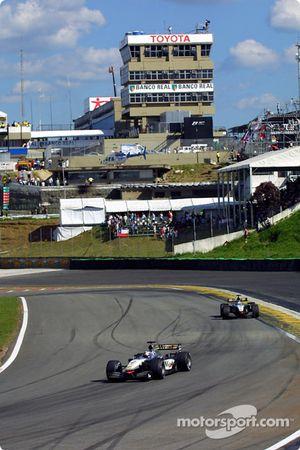Divid Coulthard et Kimi Raikkonen