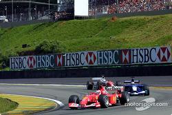 Rubens Barrichello, Nick Heidfeld y Mika Salo