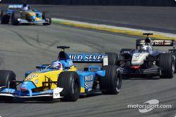 Jarno Trulli and David Coulthard