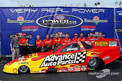 The crew of the 2002 Advance Auto Parts Funny Car, driven and owned by Cruz Pedregon, was awarded the prestigious