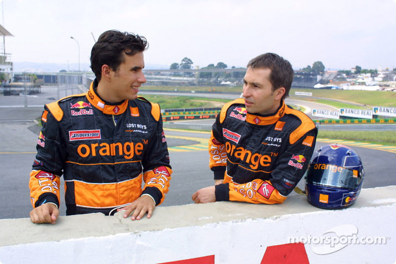 Enrique Bernoldi y Heinz-Harald Frentzen