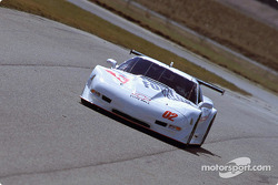 Stu Hayner in the #2 Revolution Motorsports Corvette