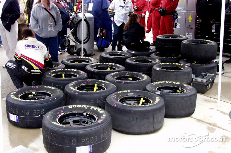 Tire prep for the race