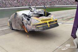 Dodge de Ward Burton prend feu