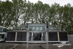 West McLaren Mercedes Team Communications Centre is making its debut, Imola