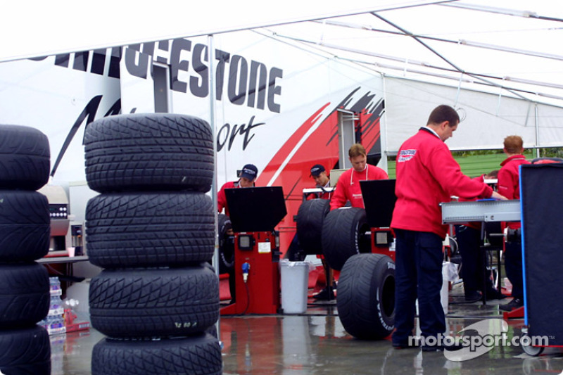 Bridgestone crew members