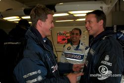 Ralf Schumacher ve Juan Pablo Montoya having fun