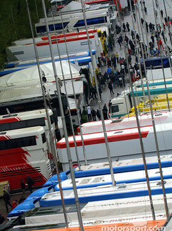 A view of the paddock area at Imola