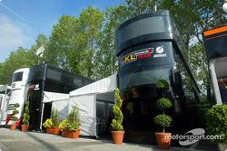 Área de hospitality del Equipo Minardi