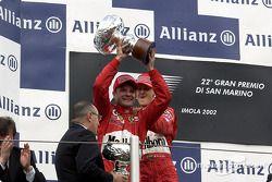 Podyum: Rubens Barrichello ve Michael Schumacher