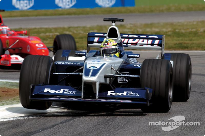 Ralf Schumacher in front of Rubens Barrichello