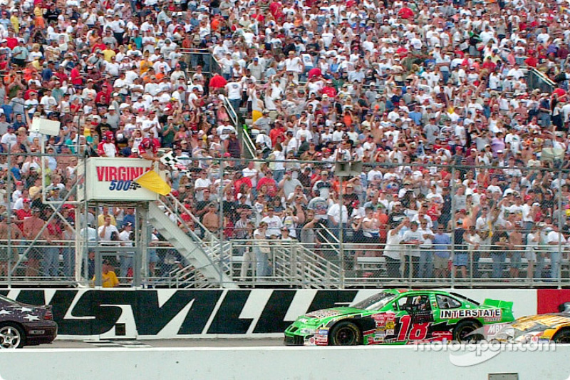 Bobby Labonte takes a sloooow victory under yellow