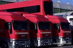 Transportadores del Equipo Ferrari
