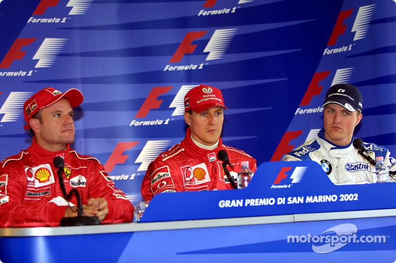 Conferencia de prensa: Michael Schumacher con Rubens Barrichello y Ralf Schumacher