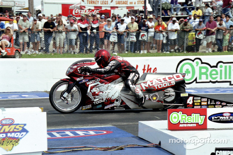 Pro Stock Bike winner Craig Treble