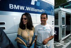 Juan Pablo Montoya y su prometida