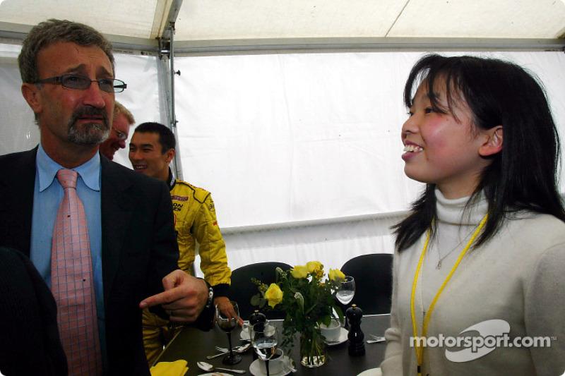 Eddie Jordan and Imperial Highness of Japan princess Akiko