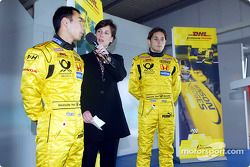 Team Jordan promotional event: Takuma Sato ve Giancarlo Fisichella