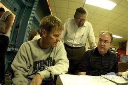 Visit to the wind tunnel at Lockheed Martin in Marietta, Georgia; Bernie Marcus, Ford Aerodynamicist