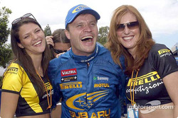 Tommi Makinen et les Pirelli Girls