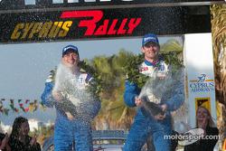 Les vainqueurs Marcus Gronholm et Risto Mannisenmaki